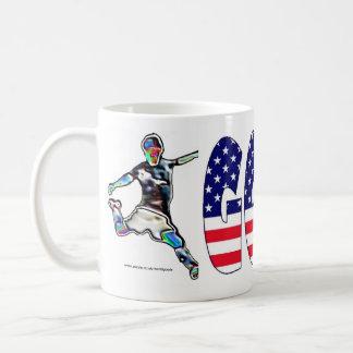 Va la taza de los deportes de la bandera americana