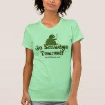 Va la tortuga de la mancha usted mismo camisetas