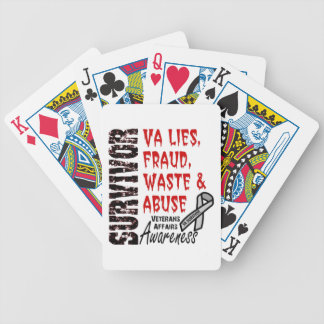 VA LIES, FRAUD, WASTE & ABUSE BICYCLE PLAYING CARDS