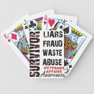 VA LIES, FRAUD, WASTE & ABUSE SURVIVOR AWARENESS BICYCLE PLAYING CARDS