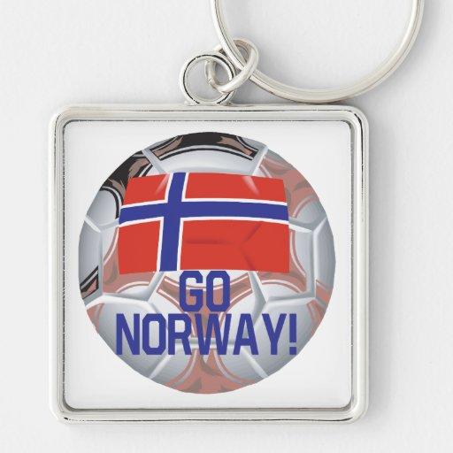 Va Noruega Llavero Cuadrado Plateado
