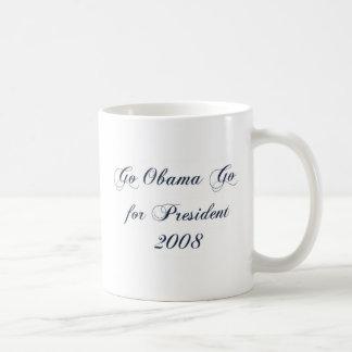 Va Obama va para el presidente 2008 1 Taza De Café