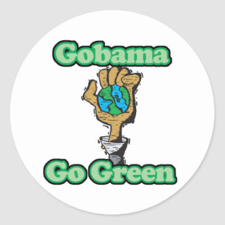 Va Obama va verde Etiqueta Redonda