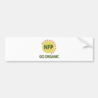 Va orgánica, la práctica NFP Pegatina Para Auto
