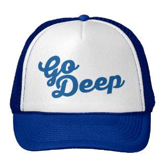 Va profundamente - gorra del softball/de béisbol