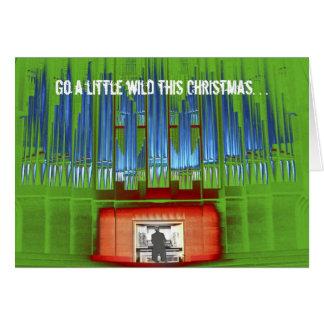Va un poco este salvaje navidad tarjeta de felicitación