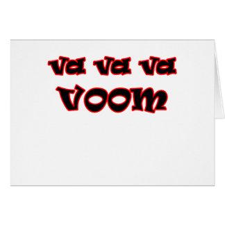 ¡Va Va Va Voom! Tarjeta De Felicitación