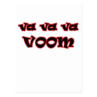 ¡Va Va Va Voom! Tarjetas Postales