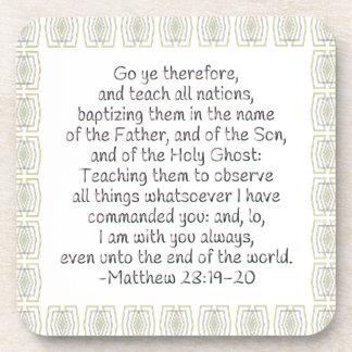 Va YE por lo tanto y enseña a todas las naciones Posavaso