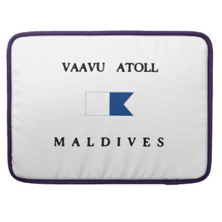 Vaavu Atoll Maldives Alpha Dive Flag Sleeves For MacBooks