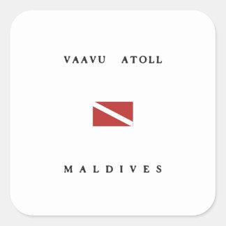 Vaavu Atoll Maldives Scuba Dive Flag Square Sticker