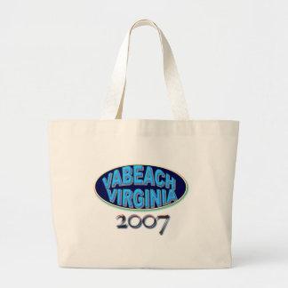 VABCH-2007-BLack Large Tote Bag