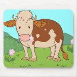 Vaca 2 de la montaña alfombrilla de ratón