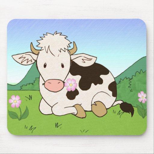 Vaca 3 de la montaña alfombrillas de raton