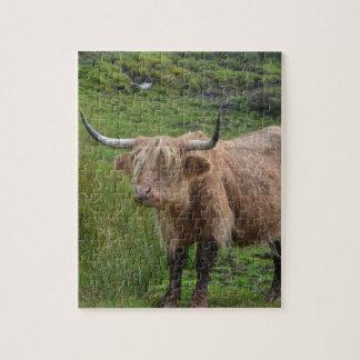 Vaca adorable de la montaña puzzles