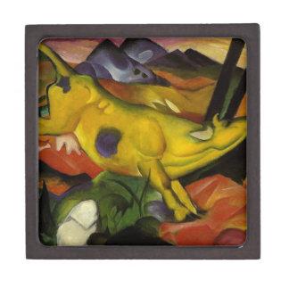 vaca amarilla caja de recuerdo de calidad