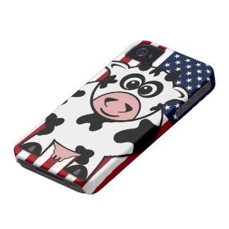 Vaca americana iPhone 4 Case-Mate carcasas