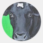 vaca art2 004 pegatina redonda