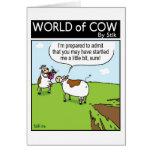 Vaca asustada tarjeton