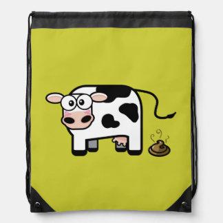Vaca avergonzada de Pooping Mochilas