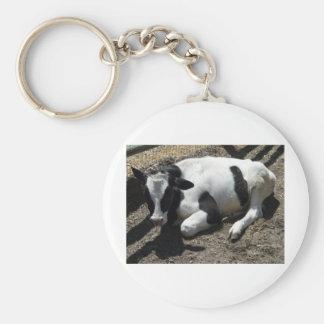 vaca, bebé llavero redondo tipo pin