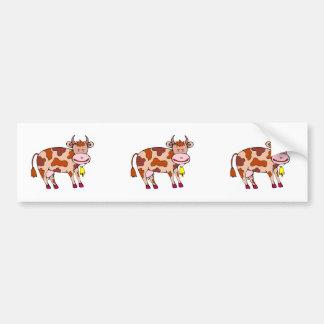 Vaca Bell Pegatina De Parachoque