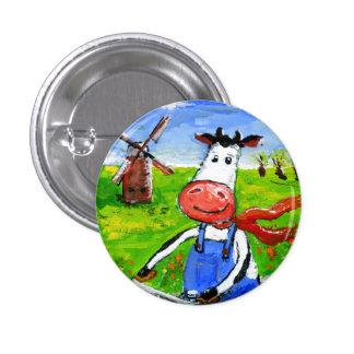 Vaca Biking Pin Redondo De 1 Pulgada