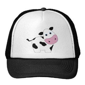 Vaca blanca linda gorras de camionero
