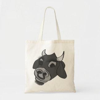 vaca blanco y negro del timey viejo bolsas de mano