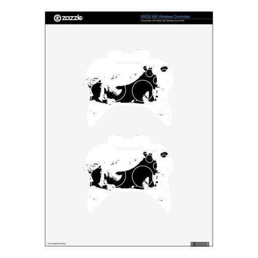 Vaca blanco y negro en tinta mando xbox 360 skin