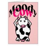 Vaca cambiante tarjetas