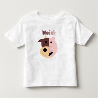 Vaca + Camiseta del niño del cerdo = de Moink Camisas