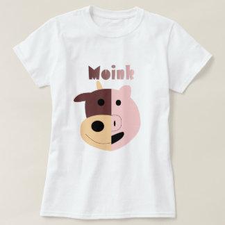 Vaca + Camiseta para mujer del cerdo = de Moink Polera