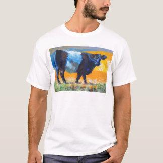 Vaca ceñida de Galloway Playera