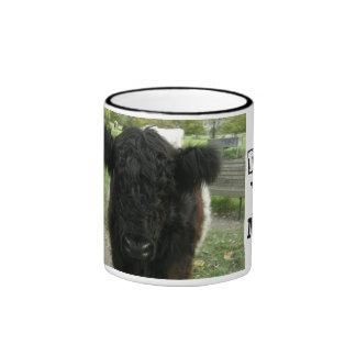 Vaca ceñida en Cambridge Taza De Dos Colores