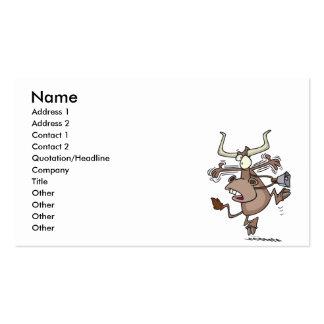 vaca chocada alarmada chistosa divertida del dibuj tarjetas de visita