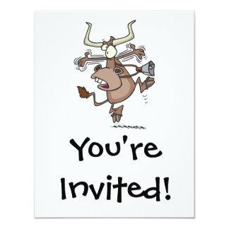 vaca chocada alarmada chistosa divertida del invitaciones personales