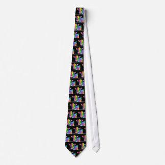 Vaca colorida corbatas personalizadas