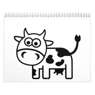 Vaca cómica calendario de pared