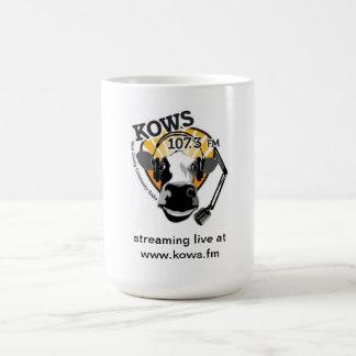 vaca con el micrófono, radio de KOWS Taza Clásica