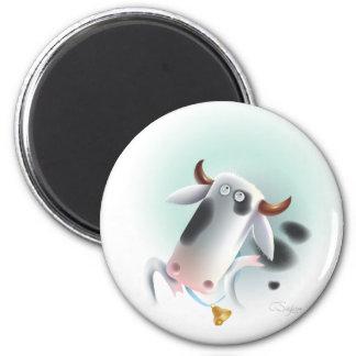 vaca con la campana imán redondo 5 cm