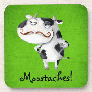 Vaca con los bigotes posavasos de bebidas