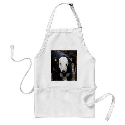 Vaca conseguida delantal