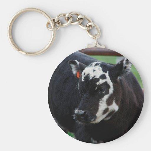 Vaca conseguida llavero personalizado