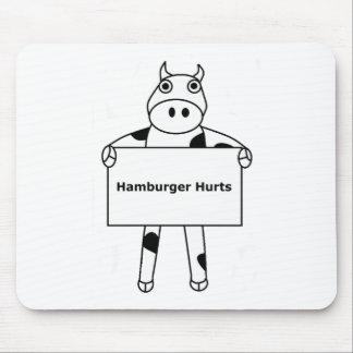 Vaca:  Daños de la hamburguesa Alfombrillas De Raton