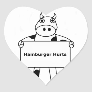 Vaca:  Daños de la hamburguesa Pegatina En Forma De Corazón