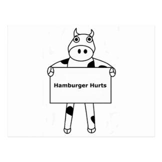 Vaca:  Daños de la hamburguesa Postales