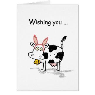 Vaca de 4145 Pascua Tarjeta De Felicitación