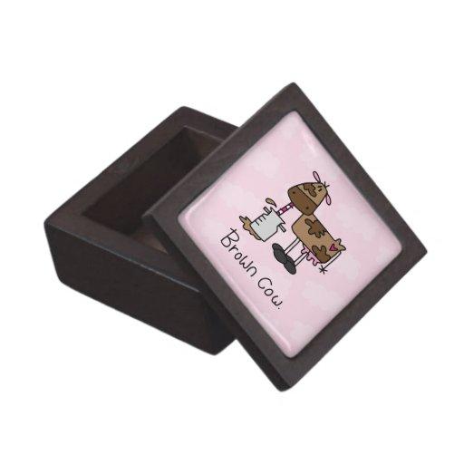 Vaca de Brown Caja De Joyas De Calidad