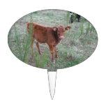 Vaca de Brown del bebé. Decoración De Tarta